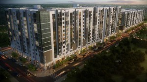 rendering of large apartment building in orlando - jefferson apartment group