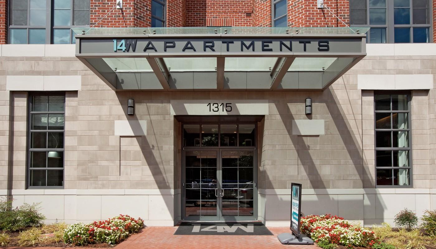 14 w apartments entrance - jefferson apartment group