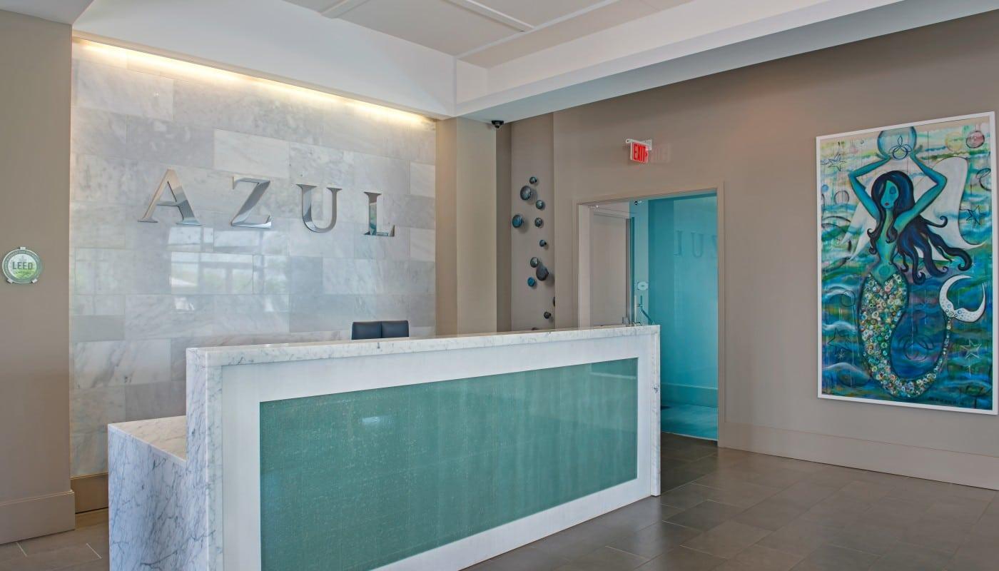 azul lobby concierge desk - jefferson apartment group