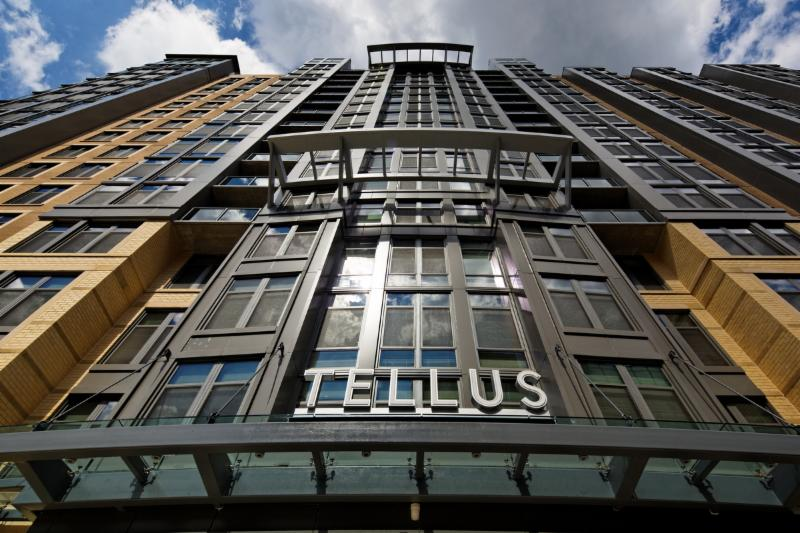 tellus high rise apartment building exterior - jefferson apartment group
