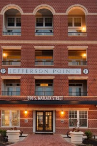 jefferson pointe exterior with brick accents - jefferson apartment group