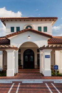 jefferson montera exterior with spanish tiled roof and parking area - jefferson apartment group