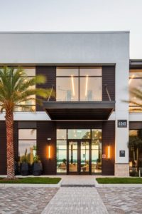 exterior of Jefferson sand lake luxury Orlando apartment building