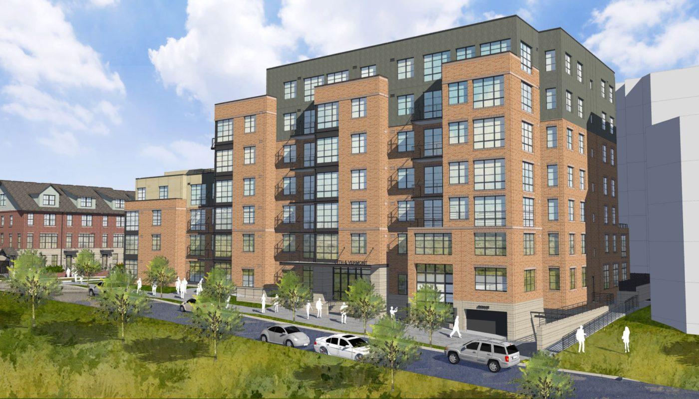 7 story brick apartment building - jefferson apartment group 1031 n vermont