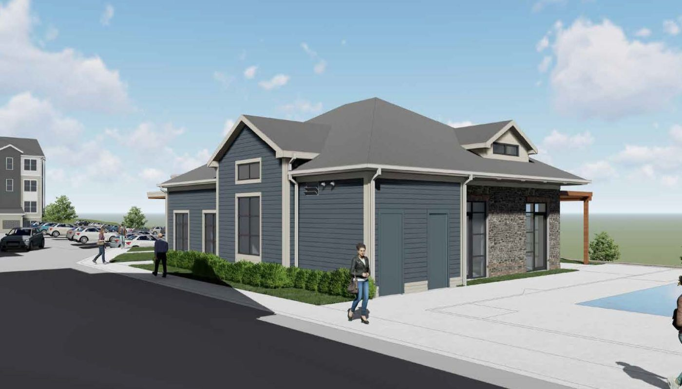 Clubhouse rendering- J Woburn Heights